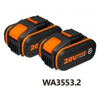 PACK 2BATERÍAS LI-ION 20V WA3553.2