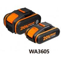 PACK 2BATERÍAS LI-ION 20V WA3605